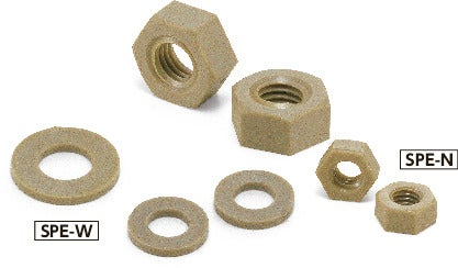 SPE-NPlastic Screw - Hex Nuts / Washers - PEEK