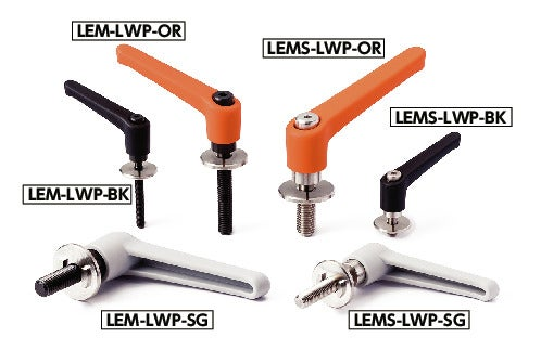 LEMS-LWPPlastic Clamp Levers with Flat Washers for Slotted Holes