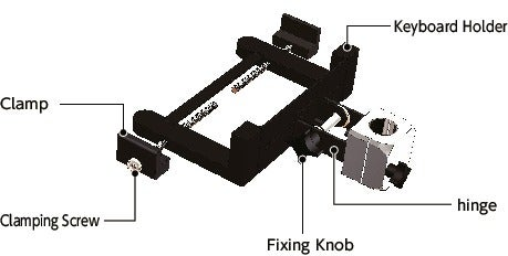 DKBR-AFKeyboard Mounting System - Single Axis Type