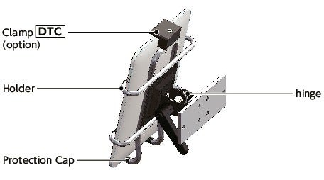 DTS-AATablet PC Mounting System - Single Axis Type - Clamp Lever / Hexagon Nut Retention