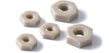 SPE-N(INCH)Plastic Screws - Hex Nuts - Inch Thread - PEEK