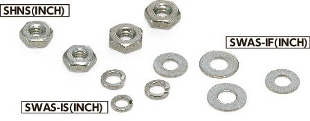 SWAS-ISHex Nuts / Washers - Inch Thread