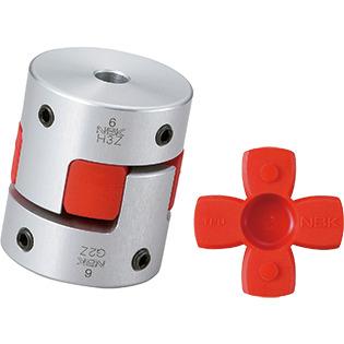 Set Screw Type Bore Diameters 5//8 and 16 mm NBK MJC-55-EWH-5//8-16 Jaw Flexible Coupling
