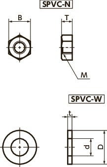 SPVC-NPlastic Screw - Cross Recessed Pan Head Machine Screws - PPS寸法図