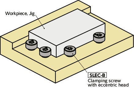 SLEC-B-ELClamping Screws(Guide type/Electroless nickel plating)