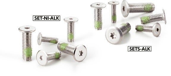 SET-NI-ALKHexalobular Socket Head Cap Screws with Extreme Low Profile (Nylon Patch)