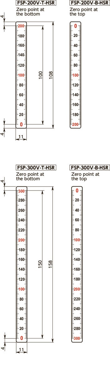 FSP-V-HSRScale Plates (Vertical Type) - 1/2 Reduced Scale寸法図