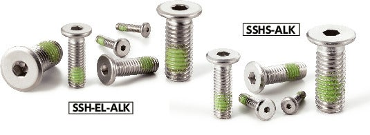 SSHS-ALKHex Socket Head Cap Screws with Special Low Profile (Stainless Steel / Nylon Patch)