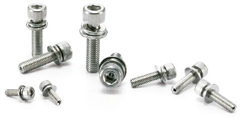 SVSQSHex Socket Head Cap Screws with Captive Washer and Ventilation Hole