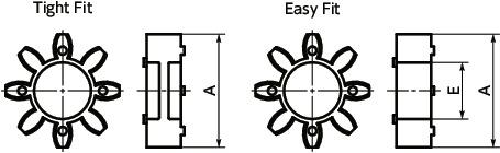 A2017 Aluminum Set Screw Type 7//8 and 28 mm Bore Diameter NBK MJC-65-WH-7//8-28 Jaw Flexible Coupling