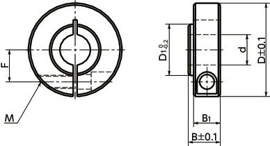 NSCS-MBSet Collar - For Securing Bearing - Clamping Type寸法図