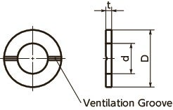 SWAS-VFWashers with Ventilation Grooves寸法図